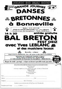 Inscription au stage de danses bretonnes du 30 mai 2019