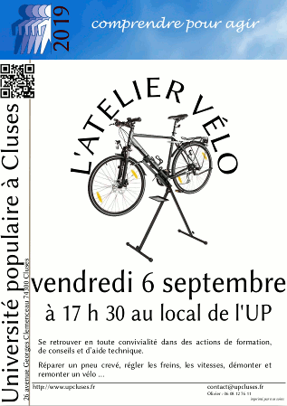 Atelier vélo du 6 septembre 2019