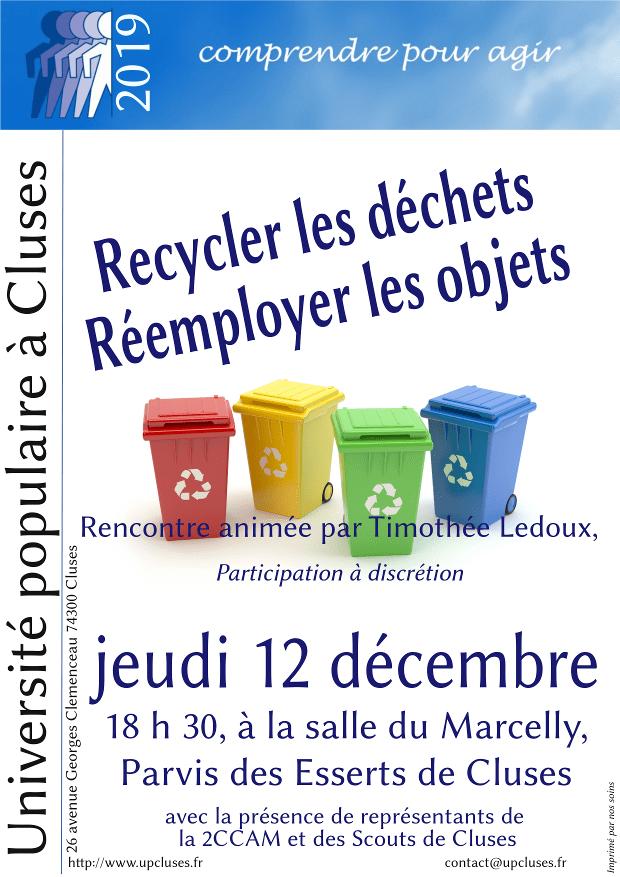 Recycler les déchets, réemployer les objets