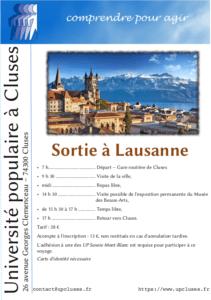 Sortie à Lausanne