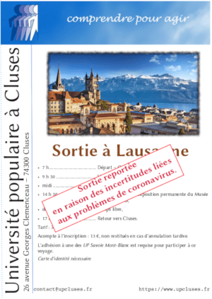 Report sortie Lausanne